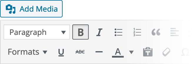 WYSIWYG Settings Reference for Bold Text Inline Style
